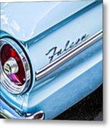 1963 Ford Falcon Futura Convertible Taillight Emblem Metal Print by Jill Reger