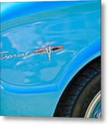 1963 Ford Falcon Sprint Side Emblem Metal Print by Jill Reger