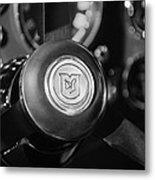 1964 Aston Martin Steering Wheel Emblem Metal Print
