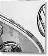 1964 Volkswagen Samba 21 Window Bus Vw Emblem Metal Print