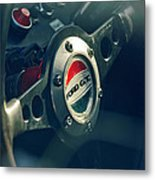 1965 Ford Gt 40 Steering Wheel Emblem Metal Print