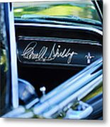 1965 Shelby Prototype Ford Mustang Carroll Shelby Signature Metal Print