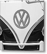 1966 Volkswagen Vw 21 Window Microbus Emblem Metal Print