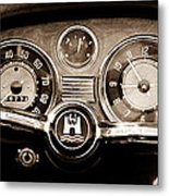 1966 Volkswagen Vw Karmann Ghia Steering Wheel Metal Print