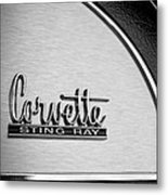 1967 Chevrolet Corvette Glove Box Emblem Metal Print