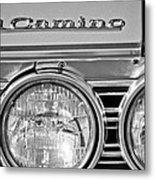 1967 Chevrolet El Camino Pickup Truck Headlight Emblem Metal Print