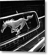 1967 Ford Mustang Gt Grille Emblem Metal Print