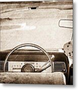 1967 Lincoln Continental Steering Wheel Metal Print