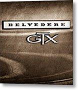 1967 Plymouth Gtx Belvedere Emblem Metal Print