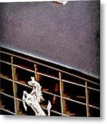 1968 Ferrari 365 Gtc Hood Emblem - Grille Emblem Metal Print