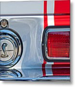 1968 Ford Mustang Fastback 427 Ci - Cobra Emblem Metal Print