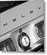 1968 Shelby Gt500 Kr Fastback Rear Emblem - Taillights Metal Print