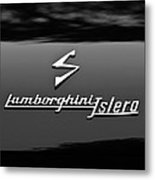 1969 Lamborghini Islero Emblem Metal Print