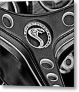 1969 Shelby Gt500 Convertible 428 Cobra Jet Steering Wheel Emblem Metal Print