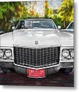 1970 Cadillac Coupe Deville Convertible Painted  Metal Print