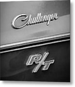 1970 Dodge Challenger Rt Convertible Emblem Metal Print