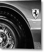 1971 Ferrari Dino Gt Wheel Emblem -027c Metal Print