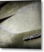 1972 Chevrolet Corvette Convertible Stingray 454 Hood Emblem Metal Print