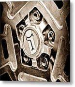1972 Detomaso Pantera Wheel Emblem Metal Print