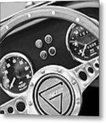 1972 Ginetta Steering Wheel Emblem Metal Print