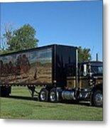 Smokey And The Bandit Tribute 1973 Kenworth W900 Black And Gold Semi Truck Metal Print