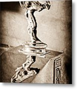 1976 Rolls Royce Silver Shadow Hood Ornament Metal Print