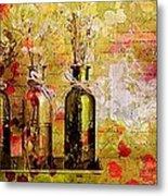 1-2-3 Bottles - S12a203 Metal Print