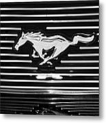 2007 Ford Mustang Grille Emblem Metal Print