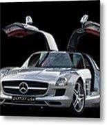 Mercedes Benz S L S  Gull-wing Metal Print