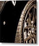 2011 Ferrari 599 Gto Emblem - Wheel Metal Print