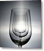3 Wine Glasses Metal Print