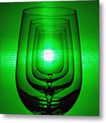 4 Wine Glasses Metal Print