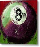 8 Ball Billiards Abstract Metal Print