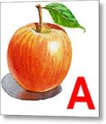 A Art Alphabet For Kids Room Metal Print