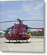 A Bo 105pah Helicopter Of The German Metal Print