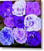 A Bouquet For You Blue Metal Print