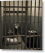 A Cell In Alcatraz Prison Metal Print by RicardMN Photography