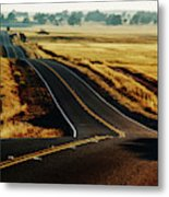 A Country Road In The Central Valley Metal Print