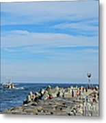 A Day At The Beach 2 Metal Print