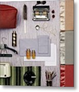 A Group Of Household Objects Metal Print