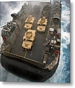 A Landing Craft Air Cushion Exits Metal Print