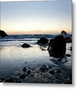 A Landscape Of Rocks On The Coast Metal Print