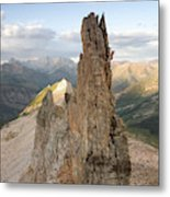 A Man Tops Out A Spire On Treasure Metal Print
