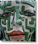 A Maze Ing Face 2 Metal Print