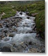 A Mountain Stream In Vanoise National Metal Print