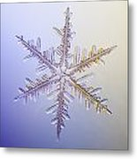 A Real Snowflake Showing The Classic Metal Print