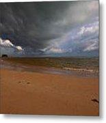 A Storm Brewing Over Nai Yang Beach Phuket Island Thailand Metal Print