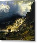 A Storm In The Rocky Mountains Metal Print