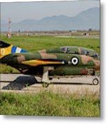 A T-2e Buckeye Trainer Aircraft Metal Print