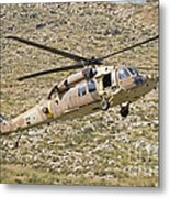A Uh-60l Yanshuf Helicopter Metal Print